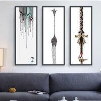 WANGART Nordic Jirafa Animales Decorativos Fotos Pintura Al Óleo en Lienzo Arte de La Pared Abstracta Moderna Decoración del Hogar Sin Marco