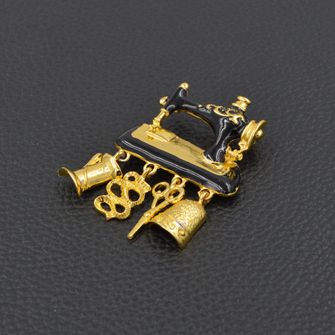 d0f3357a1 ... CINKILE Black Enamel Sewing Machine Brooches for Women New Design  Fashion Jewelry Realistic Brooch Pin Jewelry ...