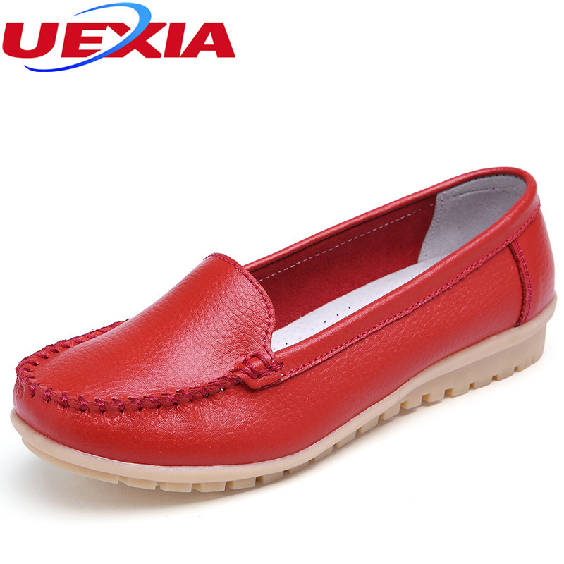 Big Size Flats PU Leather Women Shoes Ladies Moccasins Driving Breathable Female Loafers Solid Soft Mother Footwear Plus Size 10 women ladies flats vintage pu leather loafers pointed toe silver metal design
