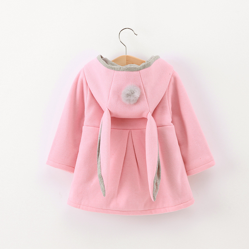 2017 Spring Children Jackets Baby Girl Rabbit Autumn Cute Coats Toddler Kids Outwear Baby Hood Clothing jacket for girls coat недорого
