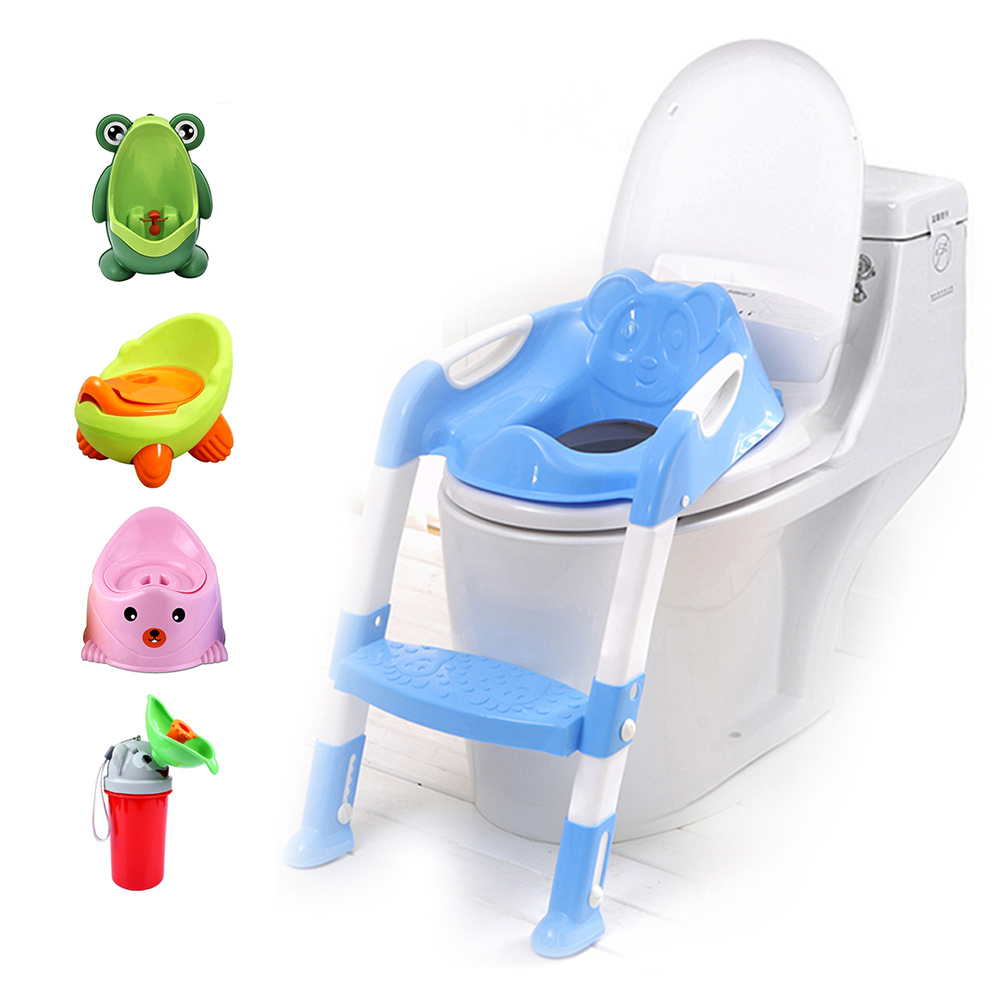Baby Toddler Potty Toilet Trainer Safety Chair Step with Adjustable Ladder Infant Toilet ...
