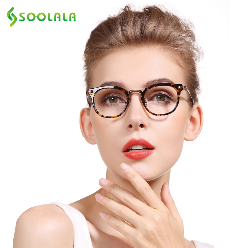 SOOLALA Womens Fashion Cateye Reading Glasses Eyeglass Frame Presbyopic Reading Glasses +0.5  0.75  1.25 1.75 2.25 To 5.0