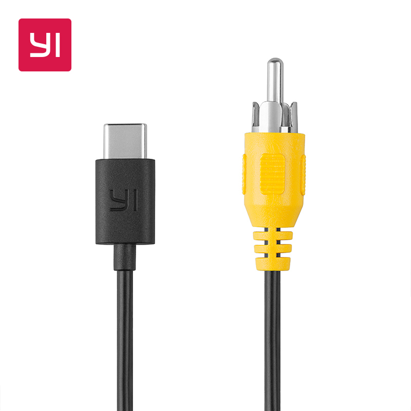 YI Type C to RCA cable Apply to YI 4K Plus Action Camera