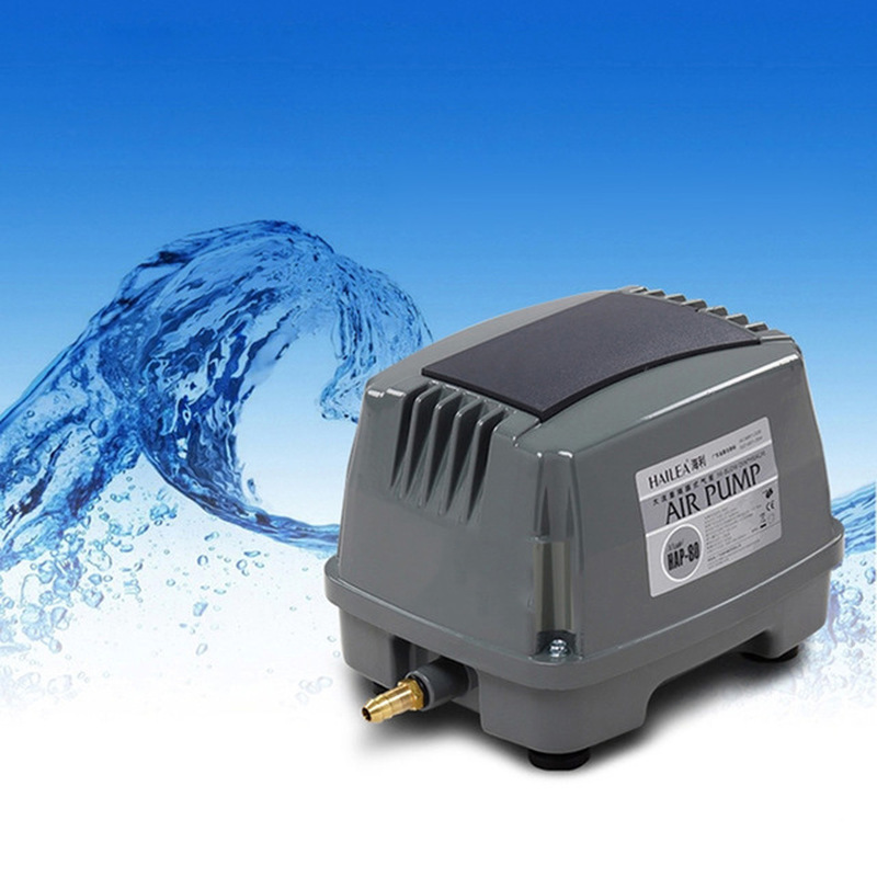 HAILEA HAP 100 80W 100L min Hiblow Aquarium Fish Tank Septic Liner Air Pump Aqua Air