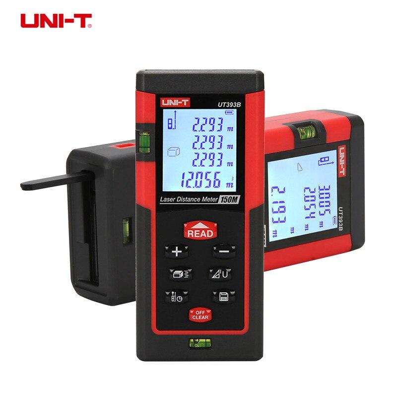 UNI-T UT393B 150m handheld high accuracy laser distance meter Digital range finder Measure Area/volume Tool brand new 60m 196ft digital lcd laser distance meter handheld range finder measure top quality