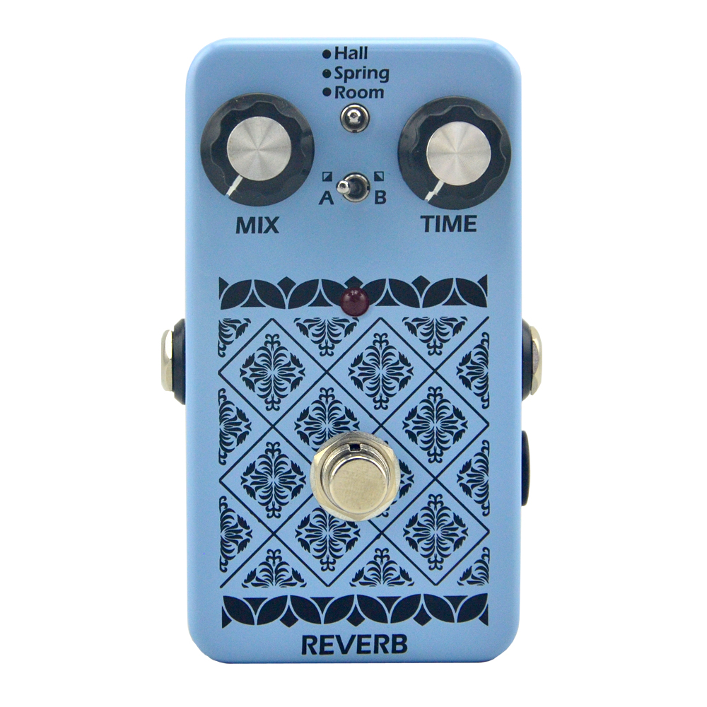 Musical Instrument  Reverb effect pedal True Bypass Electric Guitar Pedal for Guitar Parts & Accessories reverb mooer skyverb reverb effect pedal true bypass studio church plate modes digital electric guitar effects