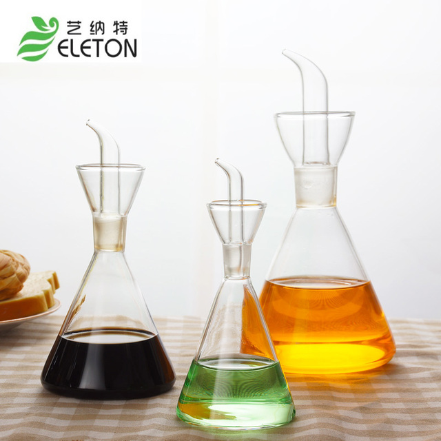 ELETON Glass Kitchen Storage Bottles Of Olive Oil And Sesame Oil Wine Glass  Special Kitchen Supplies