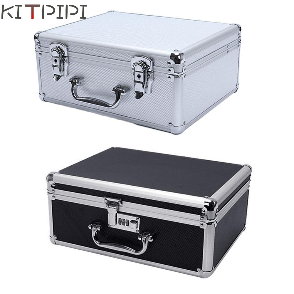 KITPIPI New Aluminum Tool Case Suitcase Toolbox File Box Impact Resistant Safety Case Eq ...