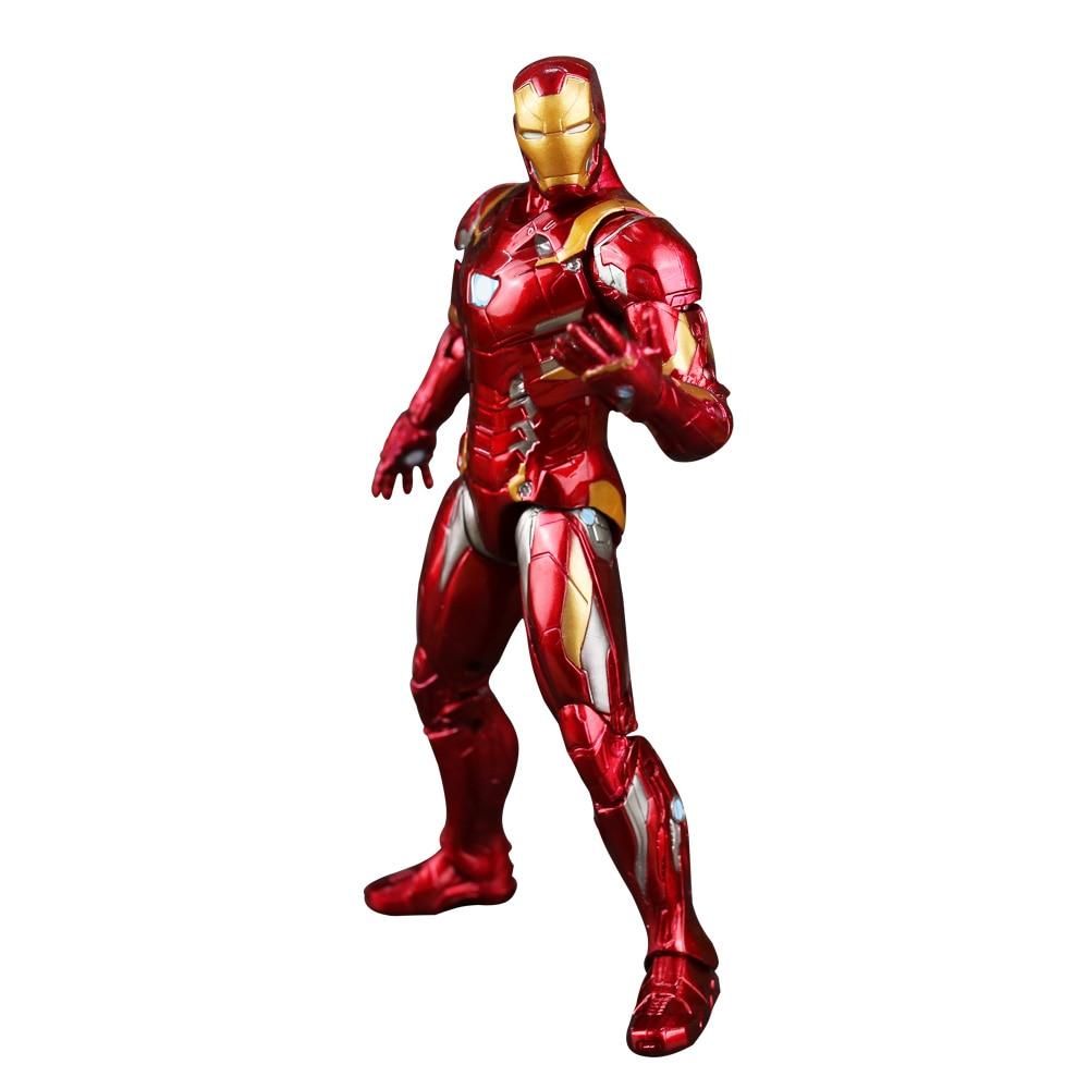 Los Vengadores súper héroe Capitán América civil Clint Iron Man - Figuritas de juguete - foto 5