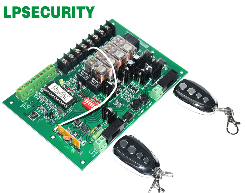 LPSECURITY Swing Gate Opener motor Controller circuit card mother board for 24VDC motor use only|gate opener control board|swing gate control board|gate opener board - title=
