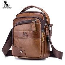 LAOSHIZI LUOSEN Mens Crossbody Bag Casual Genuine Cowhide Leather Shoulder Messenger Bags For Men handbag Small Male Bolsas Sac
