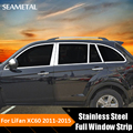 Car Styling Stainless Steel Full Window Trim Decoration Door Side Strips For Lifan X60 2011 2012 2013 2014 2015 Auto Accessories