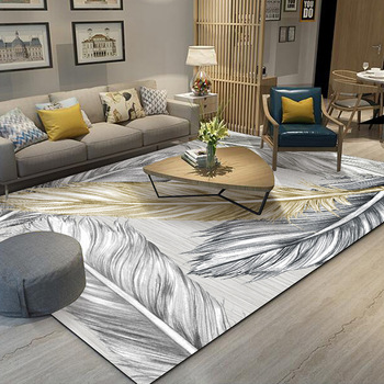 Nordic simple household carpets for living room Bedroom bedside Multi-function carpet Crystal velvet printed soft Rug Home Decor persian totem printed home decor antiskid rug