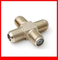 10 pcs RF Coaxial adapter F Jack to F Jack to F Jack to F Jack 4 way