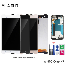 Original LCD Display For HTC One X9 Touch Screen Digitizer Assembly Replacement Repair Parts with Frame 5.5 inch with Free Tools original for htc desire 400 lcd display digitizer touch screen assembly with frame black free shipping