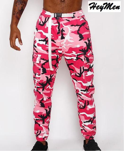 2017 de la moda rosa naranja pantalones de camuflaje hombres de marca  desgaste de la calle 73c346f0162
