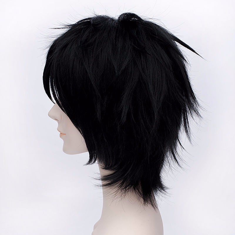 Big Hero 6 Hiro Hamada Cosplay Costume Wigs Black Short Synthetic Hair Wig Cap in Anime Costumes from Novelty Special Use