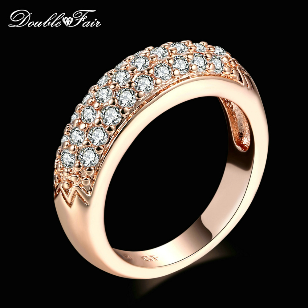 Cubic Zirconia Engagement Rings Wholesale Rose Gold Silver