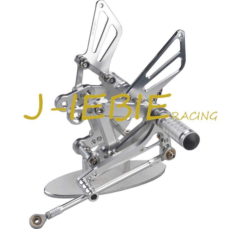 CNC Racing Rearset Adjustable Rear Sets Foot pegs For Kawasaki NINJA ZX6R 1998 2002 ZX9R 1999