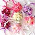 Свадебное украшение, Свадебный корсаж с розой на запястье, ручной цветок, Шелковое кружево, искусственная пена ПЭ, для невесты, подружки нев...