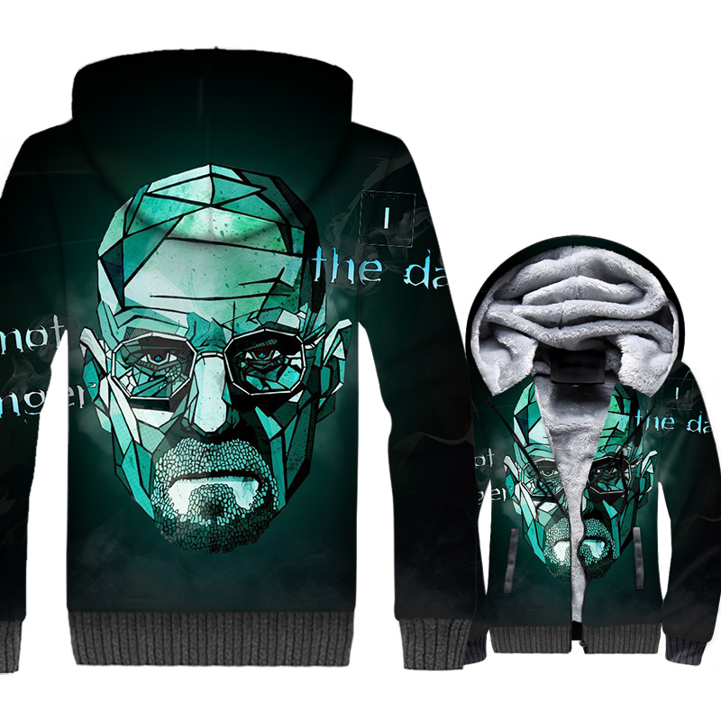 Breaking Bad Jacket Men Heisenberg Hoodies Mens Walter White Sweatshirt Winter Thick Fleece 3D Print Brand Coat Plus Size 5XL