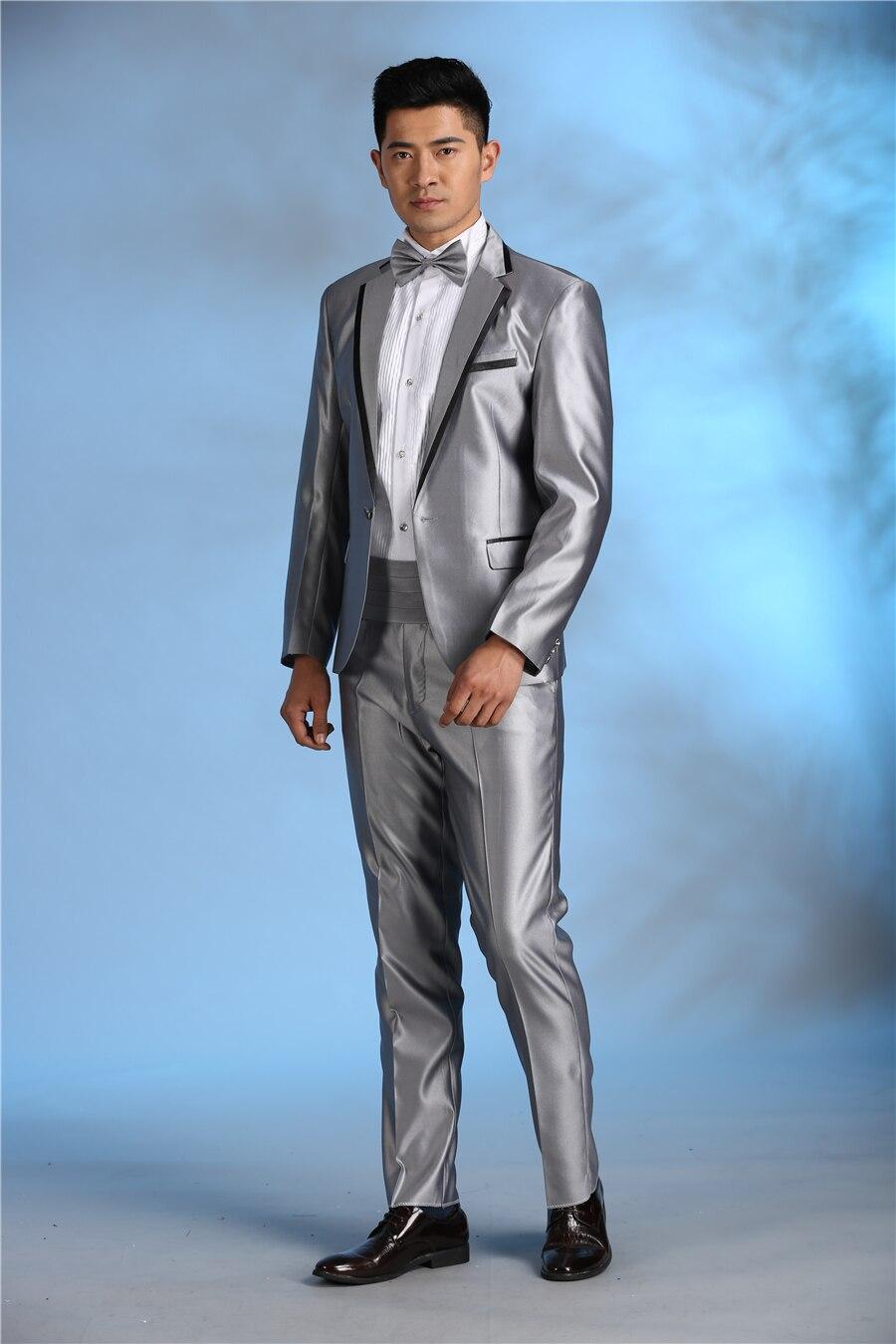 Latest Coat Pant Designs Grey Beige Performance Men Suit Slim Fit 2 ...