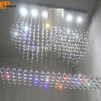 new design modern rectangular crystal chandelier lighting lustre home lamp