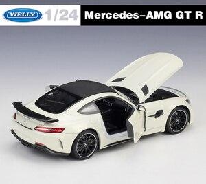 Image 3 - Welly ダイキャスト 1:24 スケール合金レーシングカーモデルカーメルセデスベンツ AMG GTR スポーツカー金属おもちゃの車おもちゃギフトコレクション