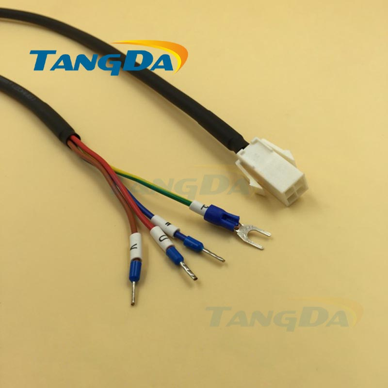 Tangda Servo motor series connection wire Cable 5 meters MFMCAO OEED Electric machinery 172159 E type terminal 0.75mm2*4C 76zy01 mig motor wire feed motor wire feeder motor dc24 1 8 18m min 1pk