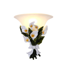 European Style Garden LED Wall Lamp Flower Wall Sconce Bedroom Wall Lights Frosted Glass Interior Wall Lamps for Kids Room Lamps цена