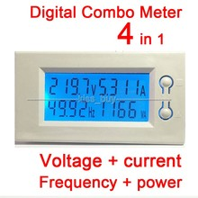 Cheapest prices 100A AC Digital Combo LCD Power Panel Meter Monitor Power Frequency Voltage current ac Voltmeter ammeter 220v 230V 380v white