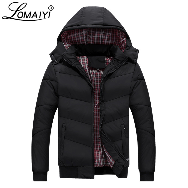 LOMAIYI Men's Winter Jacket Men 2018 Warm Thick Parka Male Cotton-Padded Coats Mens M 5XL Hooded Windbreaker Man Overcoat BM246