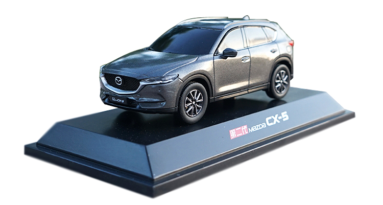 <font><b>1:43</b></font> Plastic <font><b>Model</b></font> for Mazda CX-5 2018 GRAY SUV Plastic Toy Car Collection Gift CX5 CX 5 image