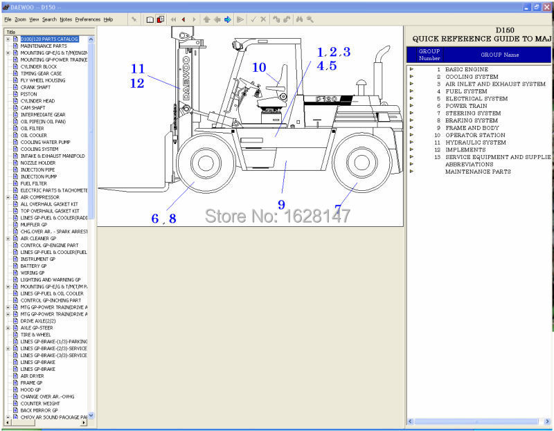 doosan forklift 2010 parts catalogue for doosan daewoo forklifts in rh aliexpress com Daewoo Forklift Specifications Daewoo Engine Parts