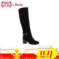 Bacia/женские зимние ботинки из натуральной кожи, ботинки из овечьей замши, шерстяная Меховая и короткая плюшевая резиновая подошва, русская т