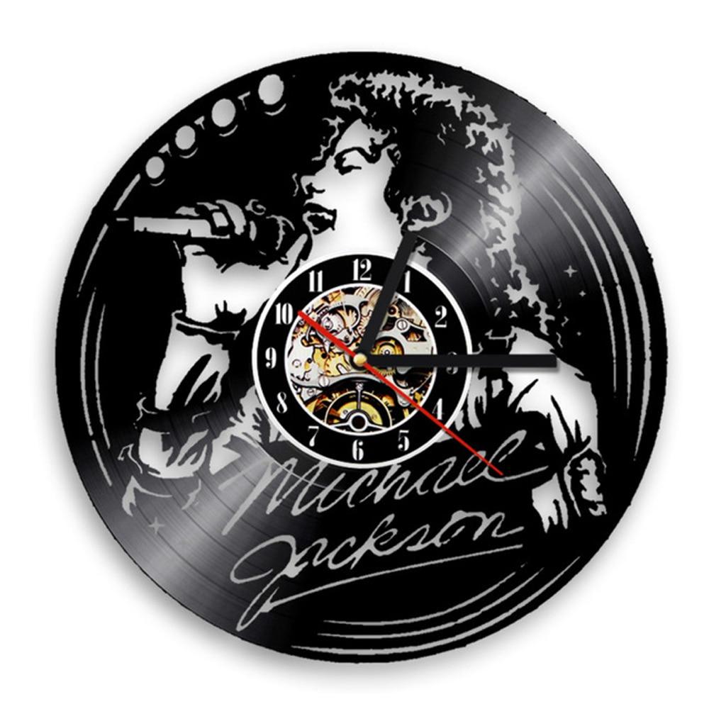 Horloge Mural Saat Wall Clock Design Michael Jackson Vinyl Record Clocks Mute Retro 3d Decorative Hanging Watch Art Home Decor