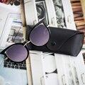 Moda feminina Óculos Além de Óculos Caso Eyewear Óculos Olho de Gato Lente Olho Senhoras Sexy Ponto de Óculos De Sol Retro Mulheres Sol