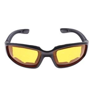 Image 3 - 3 Pair PVC Retro Motorcycle Windproof Padded Foam Riding Glasses UV400 lenses Motobike Men Eyewear Yellow Clear Smoke