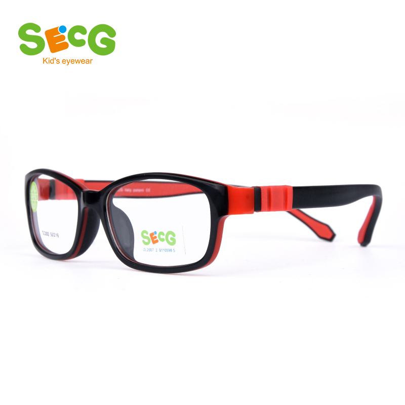 SECG Ultralight Flexible Soft Kids Frame Children Optical Spectacle Frame Glasses For Sight Eyeglass Lunettes De Vue Enfant