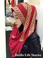 CJ116 Жемчужина Шифона мусульманских хиджабов шифоновый шарф мода красивых женщин шарфы пашмины (без underscarf)