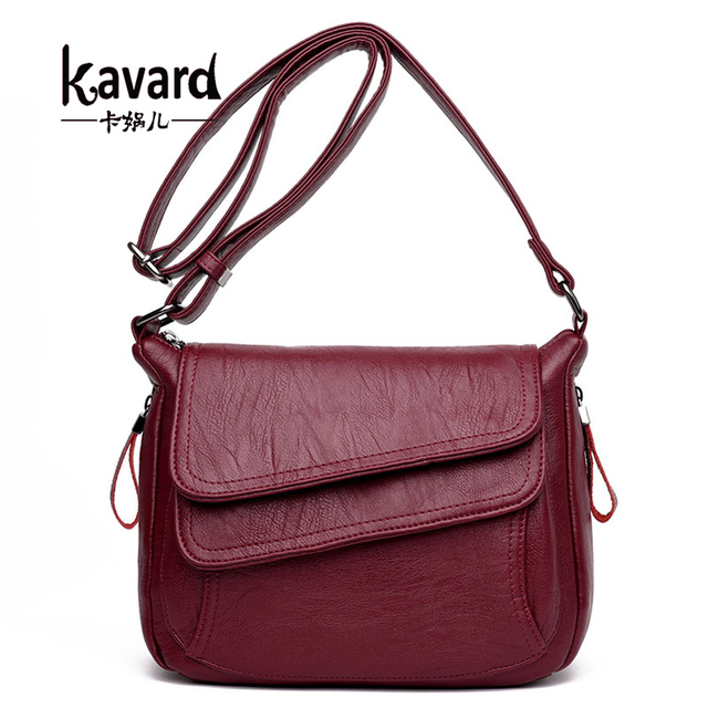 Kavard Women Leather Handbags New Style Women Bag sac a main femme Luxury Handbags Women Bags Designer Small Handbag 2017 Sling