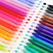 Pióro artystyczne zestaw długopisów akwarelowych średnia i cienka końcówka, markery do kolorowania na bazie wody, bogate i żywe kolory idealne dla dorosłych