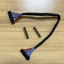 Lcd sürücü panosu çift 8bit 2ch 8 bit 30P Dupont 30P Dupont bağlantı kablosu uzatma kablosu ile 30pin kafa konektörü 25cm