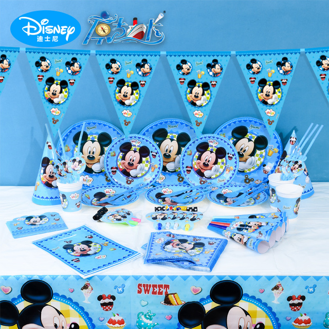 Disney Mickey Kids Birthday Party Decoration Set Fontes Do Partido on