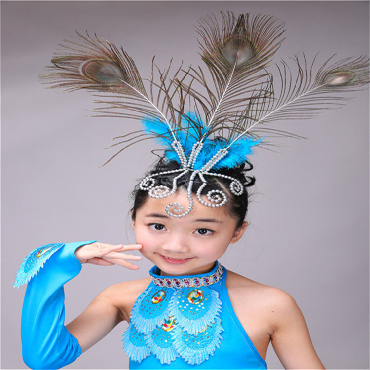 Новые детские костюмы; юбки для танцев для девочек; национальный танец павлина; одежда для выступлений(рост 90-160 см