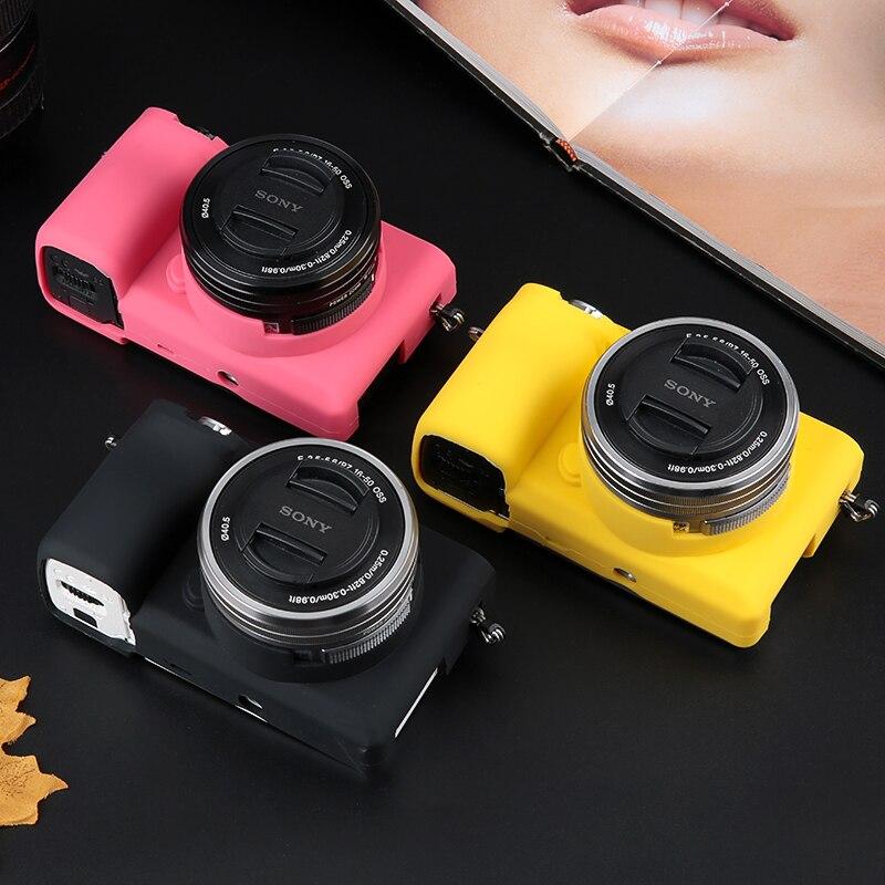 De goma de silicona suave Cámara corporal protectora caso cubrir para Sony Alpha A6000 A6300 A5000 A5100 A7 II A7M2 A7S2 A7R2 A7 Mark II 2