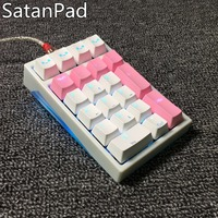 Satan pad 21 key Number numeric pad small mechanical keyboard Cherry Gateron mx blue Brown Red switches keypad rgb led with lamp