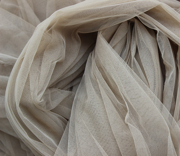 Tan Skin <font><b>Nude</b></font> 160cm width Eugen organza tulle fabric for wedding bridal dress, veil,cloth,<font><b>curtain</b></font>,backdrop,ball gown