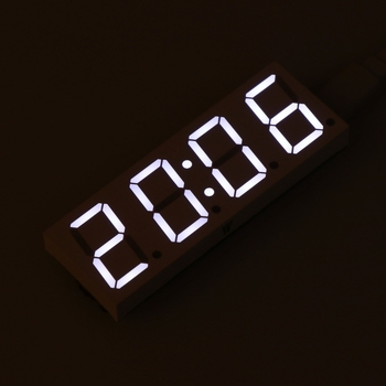 цена на Electronic DIY Dot Matrix LED Clock Kit Digital Display Green/Red/Blue/White Light 5V Micro USB Car Number Clock