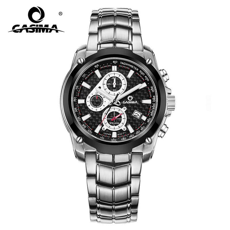 CASIMA Mens Chronograp Sport Watch Fashion 100M Waterproof Diver Military Quartz Wrist Watch Clock Men saat Relogio Masculino montre homme casima sport watch men waterproof silicone band week date quartz wrist watch dual time clock saat relogio masculino